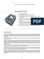 Datasheet for Tan Delta and Capacitance Tester TDC3100 b