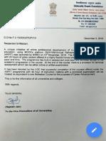UGC Circular on FDP