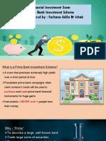 Financial scam - prime bank investment scheme