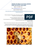 Analysis Report of India's Natural Honey Export Quantity (2013-2018)