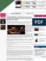 Gordan Nikolich, concertino de la Orquesta Sinfónica de Londres y director artístico en la agrupació