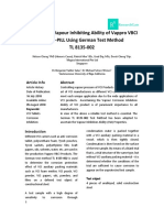 Ascertaining the Vapour Inhibition Ability of Vappro VBCI Corro-Pill-Printed