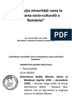 Contributia Romilor La Dezvoltarrea Socio-culturala a Romaniei