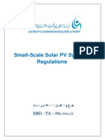 Small-Scale Solar PV Net Metering Regulations