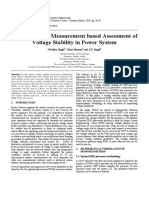 Synchrophasor Measurement based Assessment of Voltage Stability in Power System