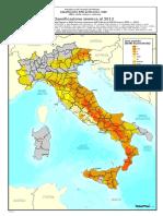 Classificazione Sismica Italia 2012