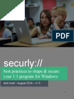 Best Practice Windows 2016