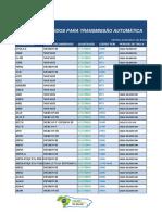 Tabela de Fluidos Para Transmissão Automática C.A.B