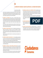 Resumen de 8 puntos del Programa de Ciudadanos Camarena