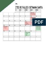 Calendari Actes Banda Març