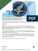 EE.uu Permitirá Al Personal Médico Oponerse a Practicar Abortos, Eutanasia y Esterilizaciones