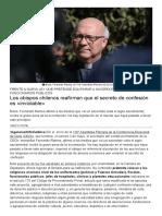 Los Obispos Chilenos Reafirman Que El Secreto de Confesión Es «Inviolable»