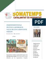Independentistas Incitan a Quemar El Valle de Los Caídos Este Sábado