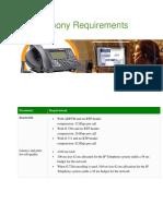 IP Telephony Requirements