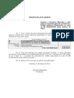 Projeto de Lei 004-2018 - Crédito Adicional Suplementar