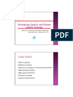 Introducing Quality Patient Safety Program