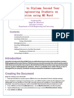 Training for Reference Citation in MS Word