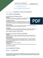 ET. Modulo de Area Administrativa