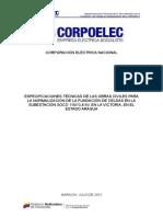 Especiicaciones Tecnicas de la S/E Coso