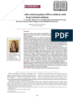 Correlates of Health-related Quality of Life in Children Withdrug Resistant Epilepsy