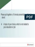Presentation job requirement