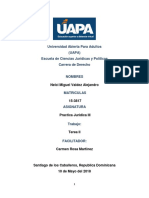 Practica Juridica III, Tarea II.docx