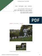 Las 20 Reglas Del Karate-Do - Dojo TORAKAN