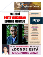 Fallecimiento de Eugenio Montejo