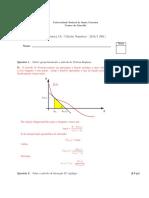 Prova de cálculo numérico da ufsc