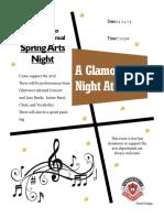 gpss arts night flyer