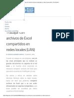 Trabajar Con Archivos de Excel Compartidos en Redes Locales (LAN) – EXCELeINFO