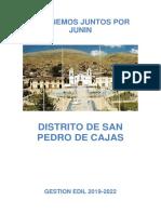 El Plan de Gobierno Municipal del Distrito de San Pedro de Cajas 2018.pdf