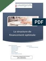 La Structure de Financement Optimale - Stratégie Finacière