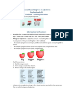 Lesson Plan of Degrees of Adjectives