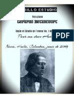 PASILLO ESTUDIO. Para piano Según el Estudio en F menor No. 1 de Chopin. Por Gerardo Betancourt.