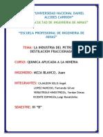 INDUSTRIA DEL PETROLEO, DESTILACIÓN FRACCIONADA.docx