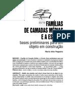 NOGUEIRA, Maria Alice. Famílias de camadas médias e a escola_ bases preliminares para um objeto em construção