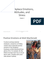 Workplace Emotions, Attitudes, And Stress - Foundations of Employee Motivation