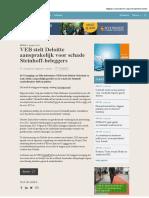 Veb Stelt Deloitte Aansprakelijk Voor Schade Steinhoff Beleggers