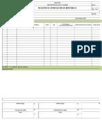Registro de Verificación de Materiales