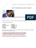 Steps to Become An Actor