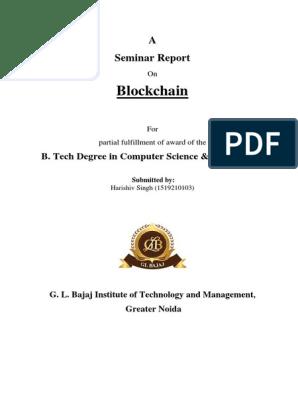 bitcoin technology raport seminar conectați btc limited
