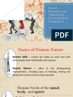 Human Elements in an Organization - Philo