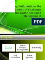 Emerging Pollutants in the Environment