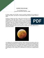 Eclipse Totalde Luna
