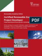 Certified Renewable Energy Project Developer