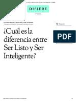 ¿Cuál Es La Diferencia Entre Ser Listo y Ser Inteligente_ - DIFIERE