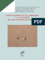 Innovaciones en el gobierno y la gestión de los centros escolares - M.a Teresa González González.pdf