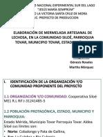 Proyecto Mermerlada de Lechosa GENESIS