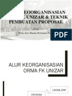 ALUR KEORGANISASIAN ORMA FK UNIZAR & TEKNIK PEMBUATAN PROPOSAL.pptx